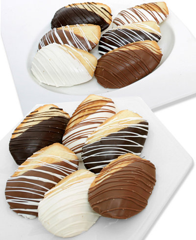 Chocolate Covered Company 12-Pc. Belgian Chocolate Dipped Madeleine Cookie Assortment