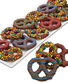 12-Pc. Birthday Belgian Chocolate Dipped Pretzel Twist Collection