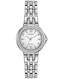Citizen Women's Eco-Drive Diamond Accent Stainless Steel Bracelet Watch 28mm EM0440-57A