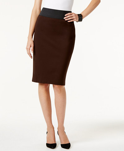 INC International Concepts Pull-On Pencil Skirt, Only at Macy's ...