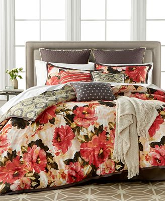 closeout! kelly ripa home angelica 10-pc. reversible comforter