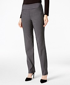 Petite Cambridge Checkered Slim-Leg Pants, Created for Macy's