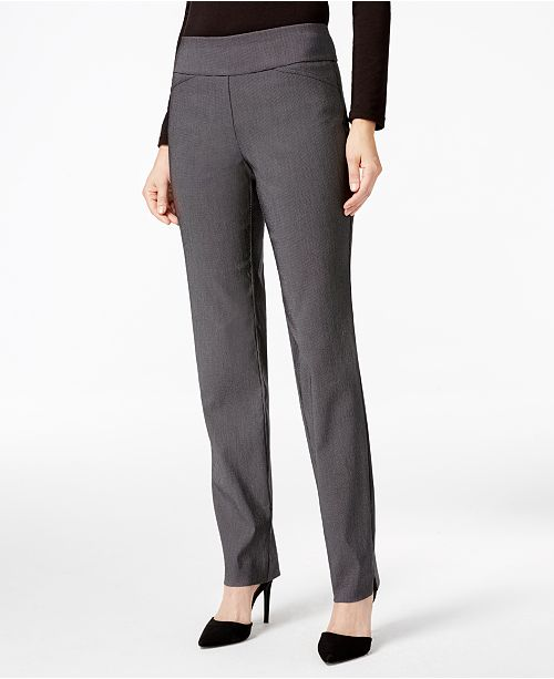 Charter Club Petite Cambridge Checkered Slim-Leg Pants, Created for Macy's