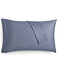 Calvin Klein Bonaire Gilded Leaf Pair of Standard Pillowcases