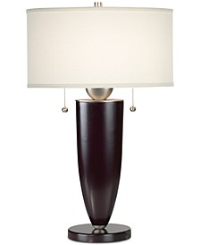 kathy ireland Home by Deco Steel and Wood Mahogany Table Lamp