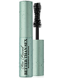 Too Faced Deluxe Better Than Sex Waterproof Mascara, 0.17 oz