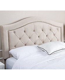 Edwyn Tufted Velvet Headboards, Quick Ship