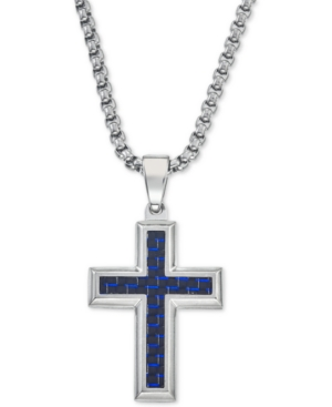 Esquire Men's Jewelry Pendant Necklace in Navy