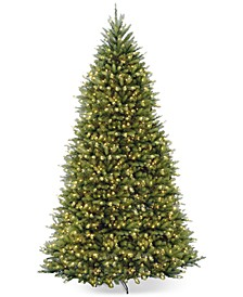 12' Dunhill Fir Hinged Christmas Tree with 1500 Clear Lights