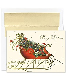 Masterpiece Studios Cards Holiday Sleigh  Set of 16 Boxed Greeting Cards and Envelopes