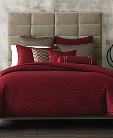 CLOSEOUT! Hotel Collection Woven Texture Red Bedding Collection, Created for Macy's