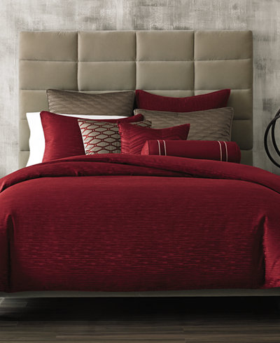 Hotel Collection Woven Texture Red Bedding Collection, Created for Macy's