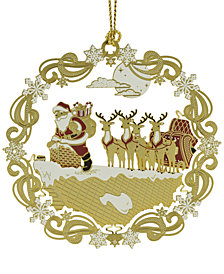 ChemArt Roof Top Santa Ornament