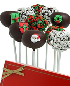 Belgian Chocolate-Dipped Christmas Cake Pops