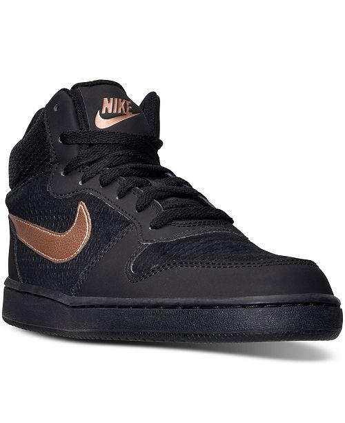 Nike Women's Court Borough Mid Lifestyle Shoes VhWEAamBYI