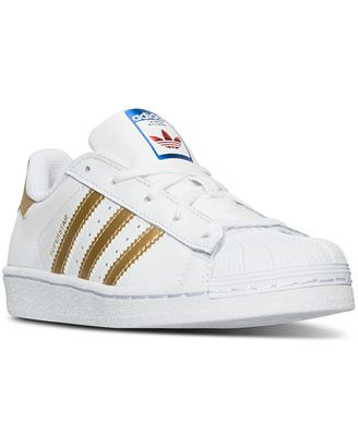 adidas Little Girls Superstar Sneakers from Finish Line