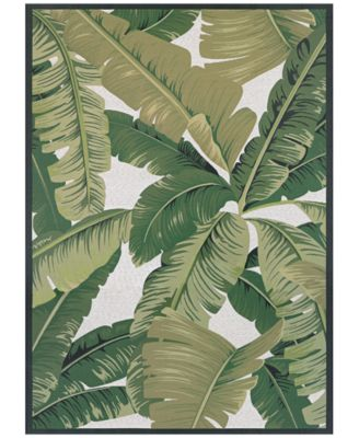"""Dolce Indoor/Outdoor Palm Lily Hunter Green-Ivory 8'1"""" x 11'2"""" Area Rug"""