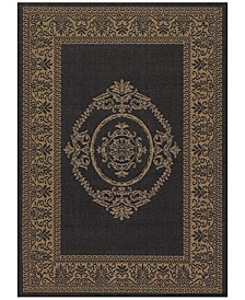 CLOSEOUT! Recife Indoor/Outdoor Antique Medallion Black-Cocoa Area Rugs