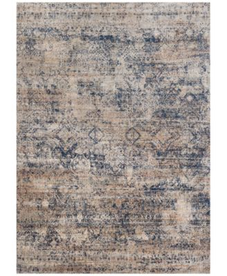"Andreas   AF-13 Mist/Blue 2' 7"" x 10' 0"" Runner Area Rugs"