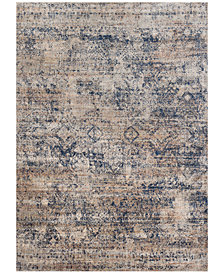 "Macy's Fine Rug Gallery Andreas   AF-13 Mist/Blue 5' 3"" Round Area Rugs"
