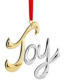 Joy Word Ornament