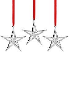 3-Pc. Mini Star Ornaments Set