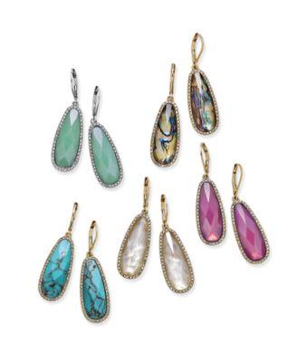 Large Stone Drop Earrings