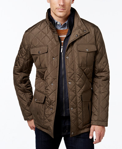 London Fog Men's Big & Tall Quilted Jacket with Zip Inset - Coats ... : quilted jackets mens - Adamdwight.com