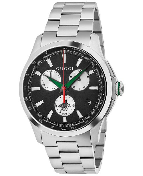 e814d0a4d1f ... Gucci Men s Swiss Chronograph G-Timeless Stainless Steel Bracelet Watch  44mm YA126267 ...