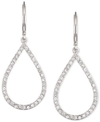 Image of Anne Klein Pavé Crystal Teardrop Earrings