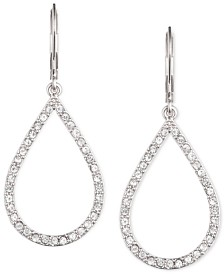 Anne Klein Pavé Crystal Teardrop Earrings