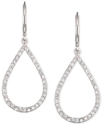 Anne Klein Pavé Crystal Teardrop Earrings