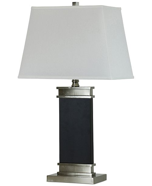 StyleCraft Barrer Black Steel Table Lamp
