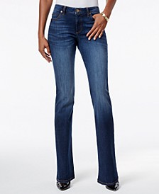 Natalie Curvy-Fit Admiration Wash Bootcut Jeans, Created for Macy's