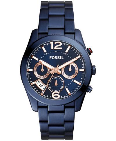 Fossil Women S Perfect Boyfriend Blue Stainless Steel