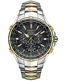 Men's Coutura Radio Sync Solar Chronograph Two-Tone Stainless Steel Bracelet Watch 45mm SSG010