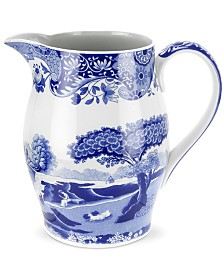 Spode Dinnerware, Blue Italian Liverpool Pitcher, 58 oz.