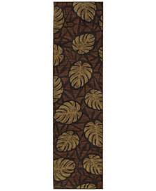 "Tommy Bahama Home Voyage 5994N Brown 1' 10"" x 7' 6"" Runner Area Rug"