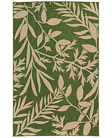 "Tommy Bahama Home Seaside Indoor/Outdoor 1631G Green 5' 3"" x 7' 6"" Area Rug"