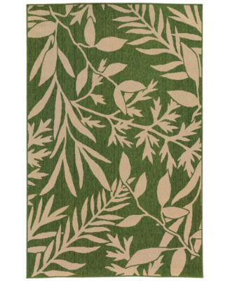 Exceptional Tommy Bahama Home Seaside Indoor/Outdoor 1631G Green Area Rugs