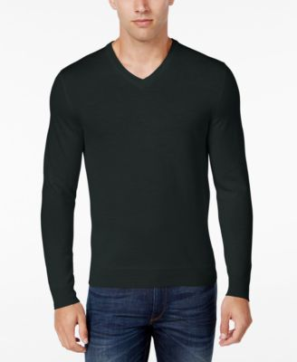 Image of Club Room Men's Merino Blend V-Neck Sweater, Classic Fit, Only at Macy's
