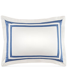 "CLOSEOUT! Tommy Hilfiger Double Border 12"" x 16"" Decorative Pillow"