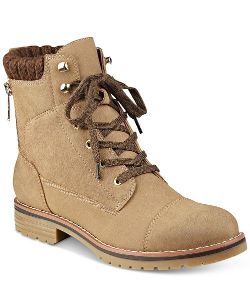 cece9ffd35ad52 Tommy Hilfiger Omar Lace-Up Booties   Reviews - Boots - Shoes - Macy s