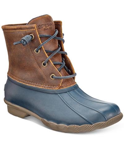 Sperry Women S Saltwater Duck Booties Boots Shoes Macy S