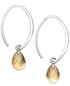 Gemstone Sweep Earrings in Sterling Silver (Available in Amethyst, Blue Topaz ,Citrine & Peridot)