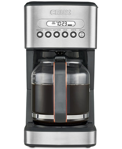 Crux Crx14540 14 Cup Programmable Coffee Maker Created For Macy S