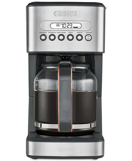 Crux CRX14540 14-Cup Programmable Coffee Maker, Created for Macy's