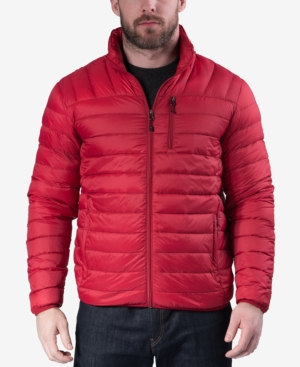 Hawke & Co. Outfitter Men's Packable Down Blend Puffer Jacket, Created For Macy's In Chilipepper
