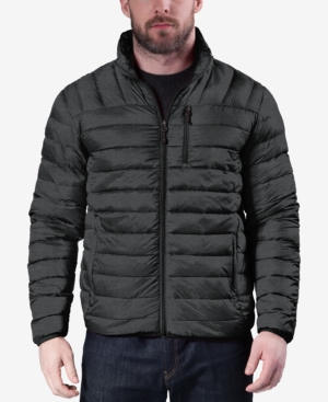 Hawke & Co. Outfitter Men's Packable Down Blend Puffer Jacket, Created For Macy's In Dark Heather Grey