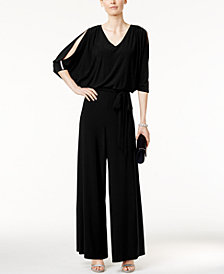 MSK Embellished Cold-Shoulder Jumpsuit